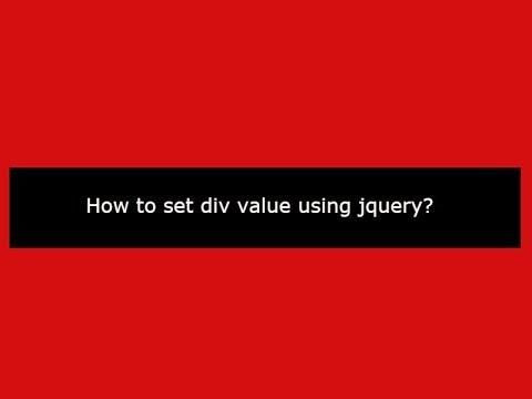 How to set div value using jquery?