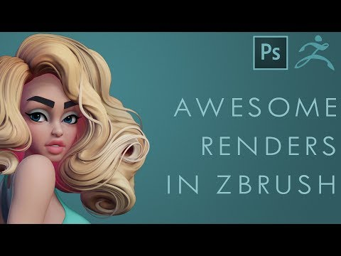How to Make QUICK and AWESOME Renders - Zbrush and Photoshop Tutorial!