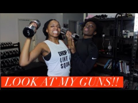 SHE'S KILLING ME!!!! UPPER BODY WORKOUT WITH JUST GEEN | #ROADTOTHEALTER