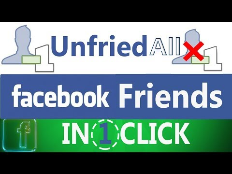 How to Unfriend all friends on Facebook at one click 2017 | 2018