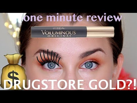 YOUTUBE MADE ME BUY IT! L'Oreal Voluminous Carbon Black Mascara Review | Beauty Banter