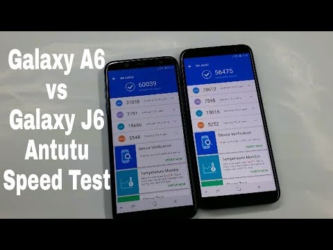 Samsung Galaxy A6 vs Galaxy J6 AnTutu Speed Test