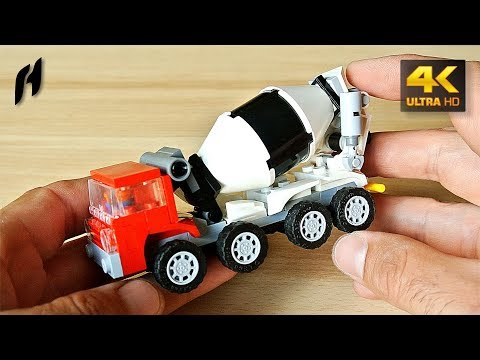 How to Build the Lego Concrete Mixer Truck (MOC - 4K)
