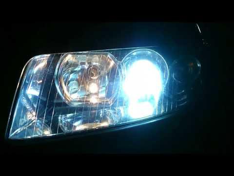 Led Headlights Install On Audi A4 B6/B7 (Comparison Led vs Halogen)