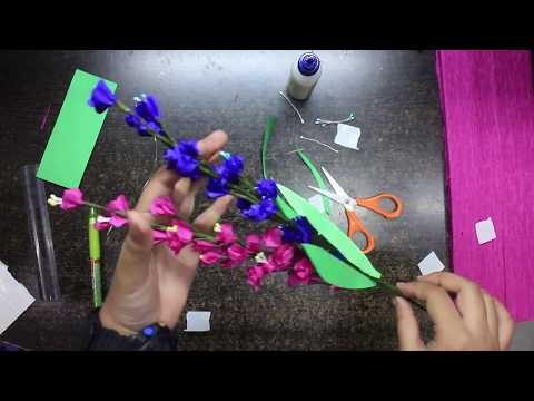 How to make easy and beautiful crepe paper lavender flowers??!!! Complete tutorial!!