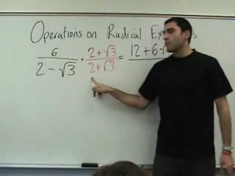Algebra 2 - Operations on Radical Expressions