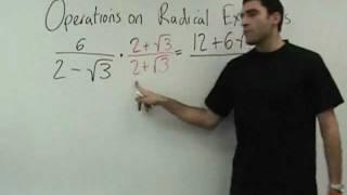Algebra 2 Operations On Radical Expressions