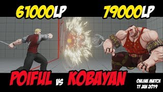 Download Kobayan(79,000 Abigail) vs Poiful(61,000 Cody) | SF5 Rank Match 17 Jan 2019 Video