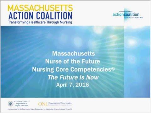 WEBINAR | Massachusetts Nurse of the Future Nursing Core Competencies: The Future is Now