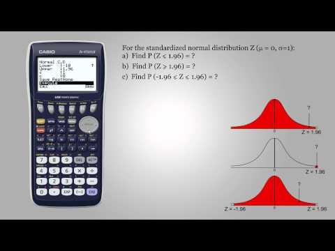 Probability for standardized normal distribution - Casio fx-9750GII