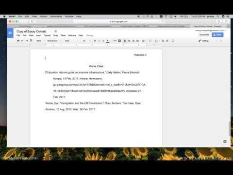 Make a Hanging Indent in Google Docs