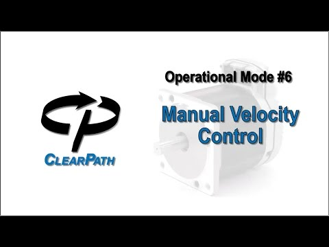 ClearPath Integrated Servo Motor: Manual Velocity Control