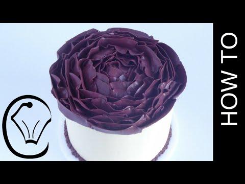 Giant Burgundy Buttercream Flower Rose Cake by Cupcake Savvy's Kitchen
