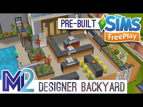 Sims FreePlay - Designer Backyard House (Pre-Built Template)
