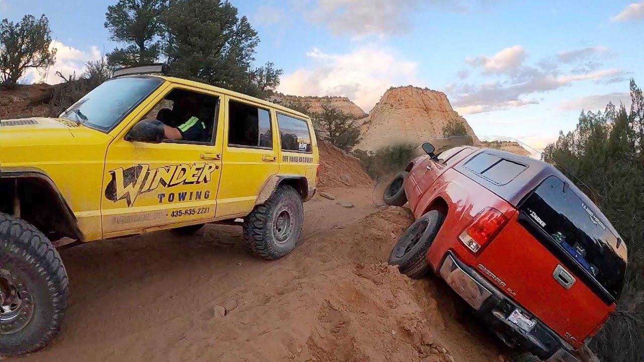 GMC Sierra Goes Over The Edge - 2WD Truck!