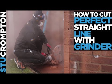 How to cut perfect straight line with grinder DIY Tip