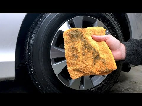 How To Clean Car Tires And Wheels Easily Without A Hose Or Free Flowing Water 2018!
