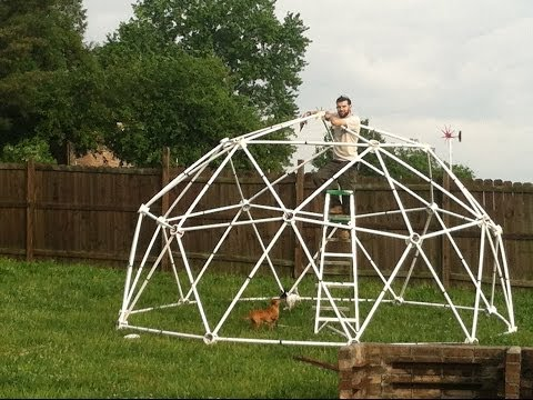 How to build a portable geodesic zip tie dome greenhouse (16 foot diameter) part:1