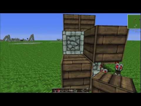Minecraft 1.7.9 2x2 Piston Door Tutorial