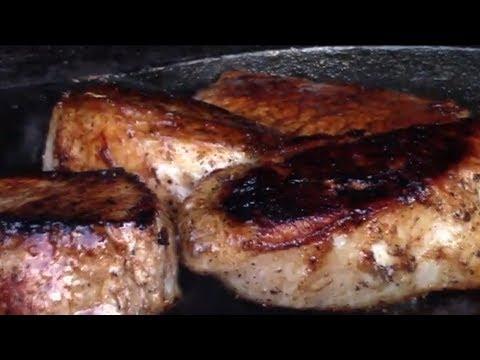 Balsamic Boneless Pork Loin Chops/ Pork Chops/ Cast iron Pork chops