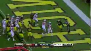 2013 Ohio State at Michigan Football Highlights