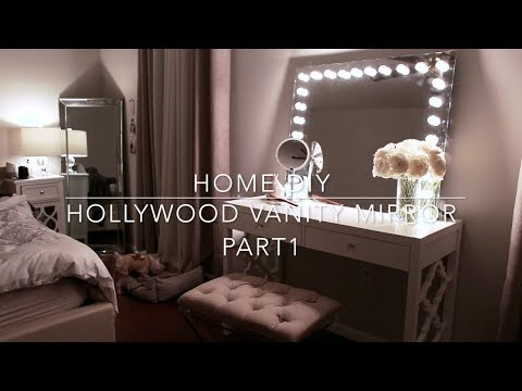 HOME DIY - Hollywood Vanity Mirror with Lights l Under $70