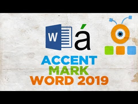 How to Put an Accent Mark in Word 2019   How to Insert Accent Mark in Word 2019