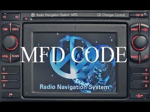VW Radio Navigation System MFD code ( unlock )