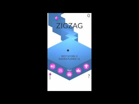 Playing Zigzag game on Samsung for the first