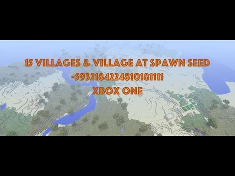 15 Villages Seed and Village at Spawn with Blacksmith Seed Minecraft Xbox One PS4 October 3 2016