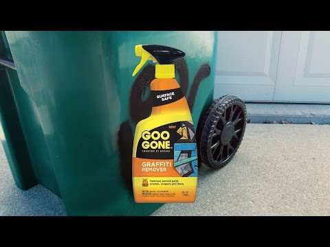 Removing Spray Paint with Goo Gone Graffiti Remover