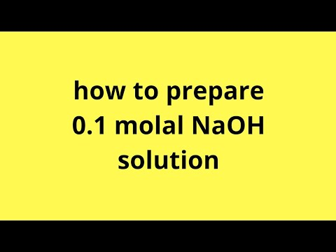 how to prepare 0 1 molal NaOH solution