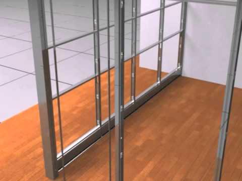 Demountable Modular Wall System Sapphire  Installation