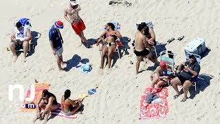 chris christie family soak up sun on state beach he closed to public
