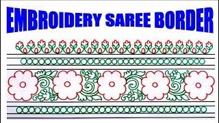 Saree Border Design Drawing Videos 9tube Tv