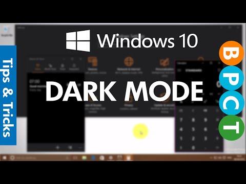 Windows 10- Enable Dark Mode (Build 14316)