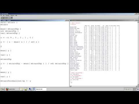 74 how to calculate a variance and standard deviation and then normalize data in r