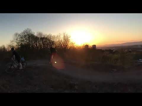 Sunset Jumps on Air Space at Cathkin Braes Glasgow