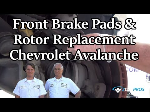 Front Brake Pads & Rotor Replacement Chevrolet Avalanche 2002-2006
