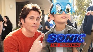 Sonic The Hedgehog Movie - Family Day with James Marsden & Jim Carrey (HD)
