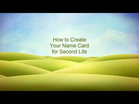 Second Life: How to Create Name Card with Textures