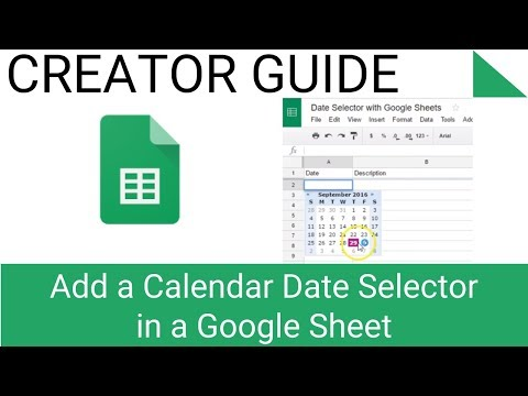Add a Calendar Date Selector in a Google Sheet