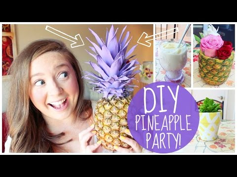 🍍DIY Pineapple Party! Treats, Decor & a Cocktail!🍍
