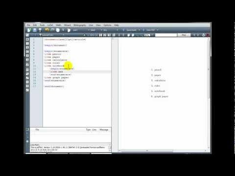LaTeX Tutorial 4 - Lists