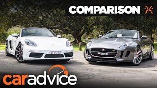 2016 Porsche Boxster S v Jaguar F-Type V6 S comparison | CarAdvice