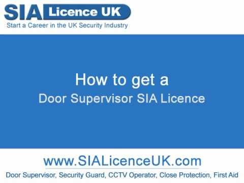 How to get a Door Supervisor SIA Licence