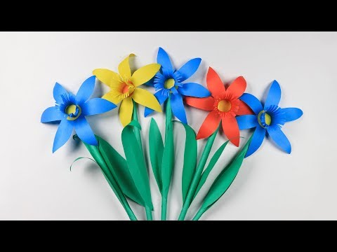 How to Make Paper Daffodils Flower: Paper Flower Making | sb crafts