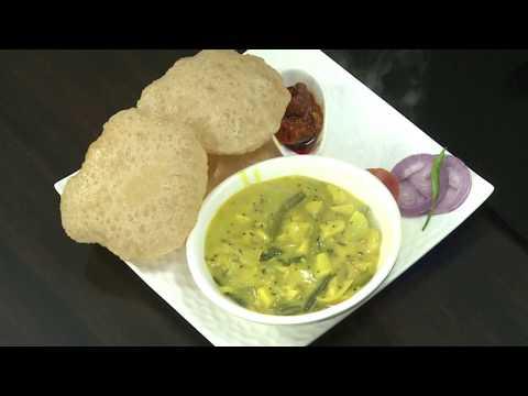 Poori With Karunai Kilangu Kootu / கருணை கிழங்கு பூரி கூட்டு   - TAMIL