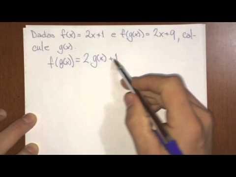 Funções - Função Composta - Como achar uma das funções
