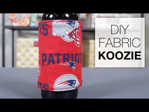 DIY Fabric Koozie Tutorial